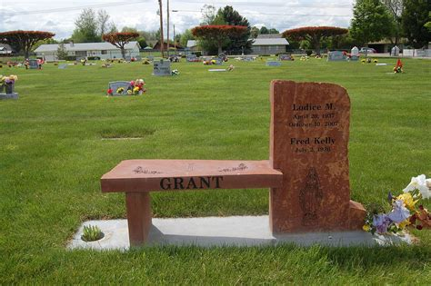 bench headstones gravestones memorial monuments benches
