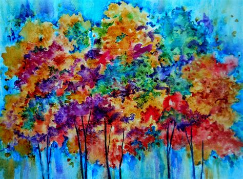 colorful tree colorful tree oil paintings www imgkid com the image