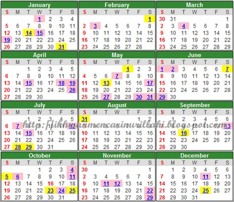 printable calendar 2014 malaysia calendar 2014 school holidays malaysia