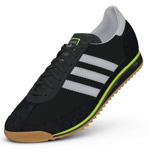 mens adidas originals sl72 black casual fashion trainers shoes size 6 12 ebay