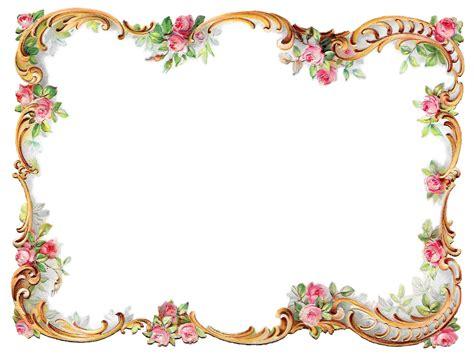 frame design flower antique images royalty free flower frame pink rose shabby