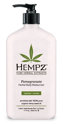 hempz pomegranate moisturizer is a smooth new herbal