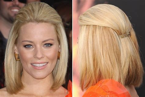 short haircuts styed with barrettes elizabeth banks sophisticated bob with barrette do it