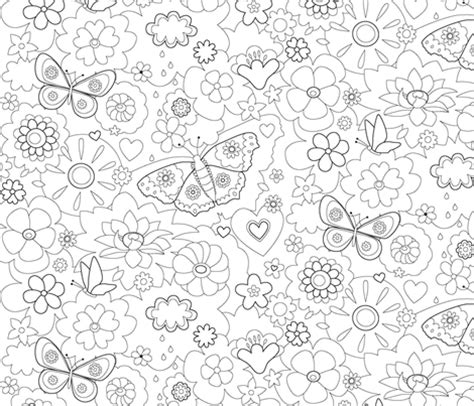 wallpaper floral coloring book fabric haka design
