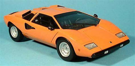 Lamborghini Countach Orange Lamborghini Countach Lp 400 Orange Kyosho Diecast Model