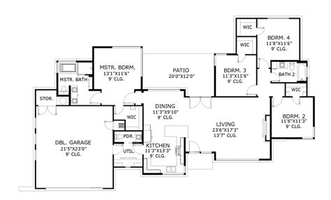 usonian floor plans usonian 6274 4 bedrooms and 2 baths the house designers
