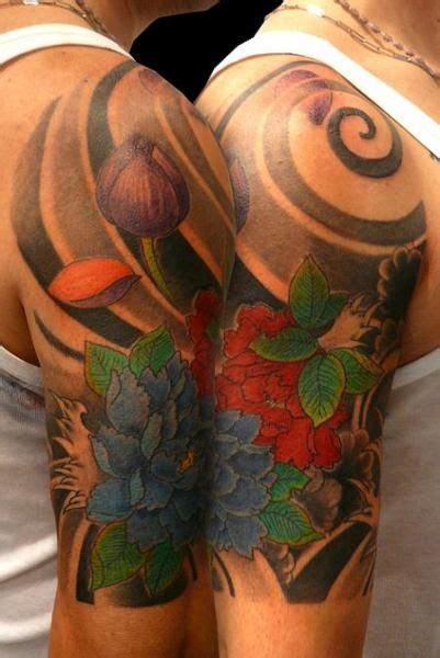 peonie tattoo mezzamanica giapponese peonie apr2012 japanese