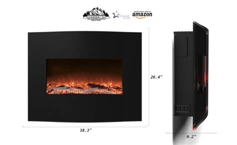 Remote Electric Fireplace by The 10 Best Wall Mount Electric Fireplace Reviews 2017