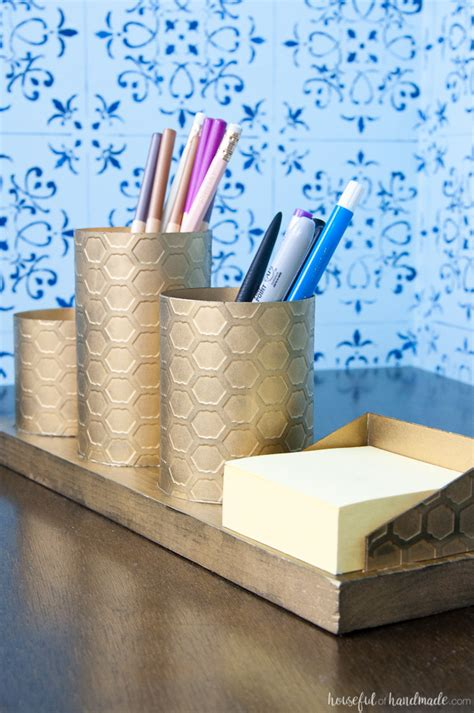 diy desk organizers diy desk organizer with painted brass a houseful of handmade