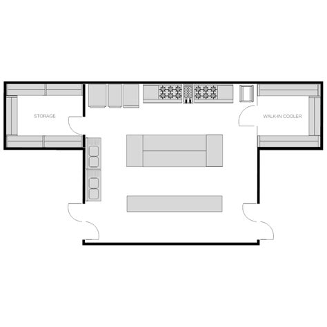 kitchen floor planner restaurant kitchen plan