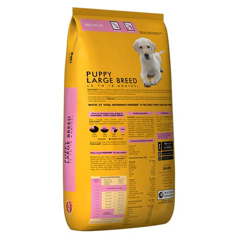 pedigree breed pedigree food puppy large breed professional 10 kg dogspot pet supply