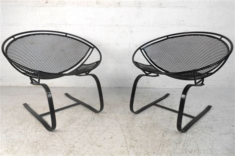 Mid Century Modern Patio Furniture Pair Mid Century Modern Iron Cantilever Patio Chairs By Tempestini For Salterini At 1stdibs