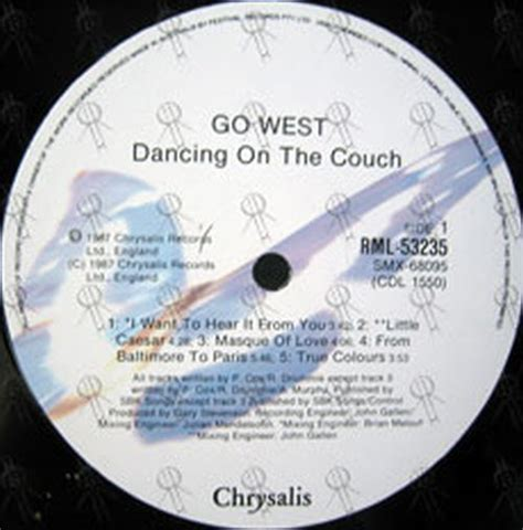 go west dancing on the couch go west dancing on the couch 12 inch lp vinyl