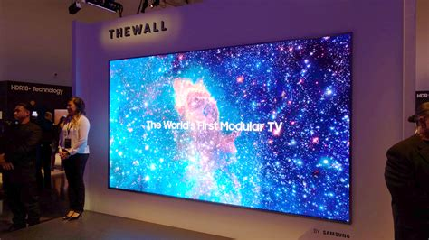 samsung  wall samsung launches  modular tv  ces