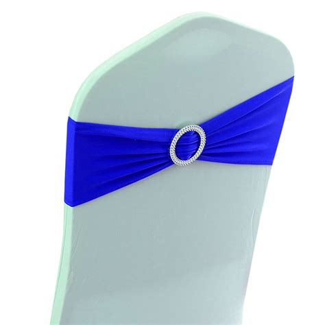 blue chair bands royal blue spandex chair band with buckle 10pcs