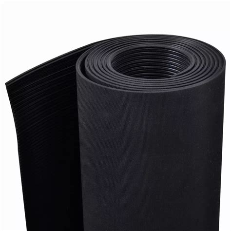 Anti Slip Floor Mats - rubber floor mat anti slip 7 x 3 ribbed vidaxl