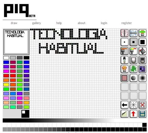 crear imagenes a pdf online tecnolog 237 a habitual crear dibujos pixelados on line