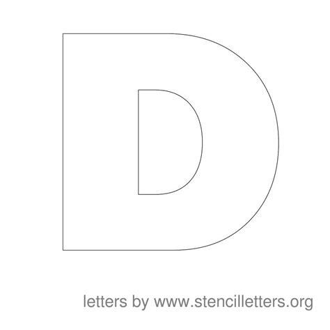 printable letter d stencil large stencil letters stencil letters org