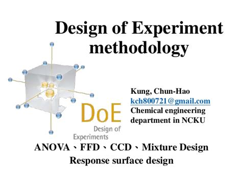 design experiment mixture design of experiment methodology