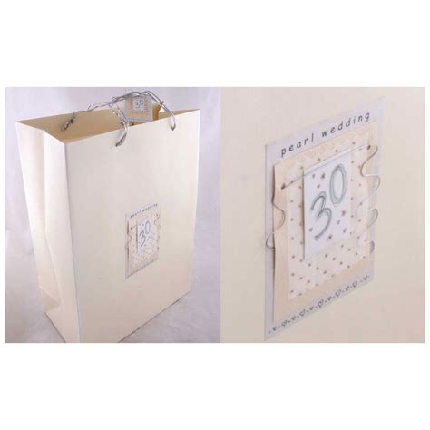 wedding anniversary gift bags pearl wedding gift bag gifts by anniversaryideas