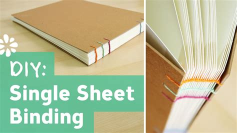 how to print and bind your own paperback book bookmaking diy single sheet bookbinding tutorial sea lemon youtube