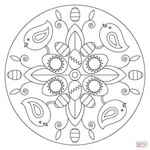 mandala coloring pages easter easter mandala with birds and eggs coloring page free