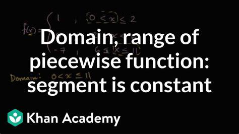 find  domain  range   piecewise function
