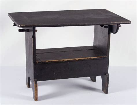 Hutch Table Antique jeff bridgman antique flags and painted furniture pennsylvania hutch table in black paint with