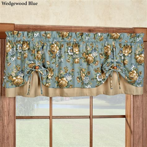 Tailored Valances For Windows Floral Versaties Window Valance