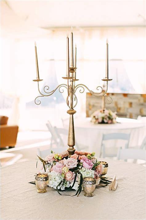 Gold Candelabra Centerpiece Weddingchicks Dreamy Decor Gold Candelabra Centerpieces