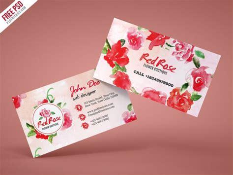 flower shop business card template free 名刺専科 business card info