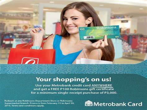 Robinsons May Gift Card - metrobank credit card promo p3000 spend p100 robinsons gift certificate featured