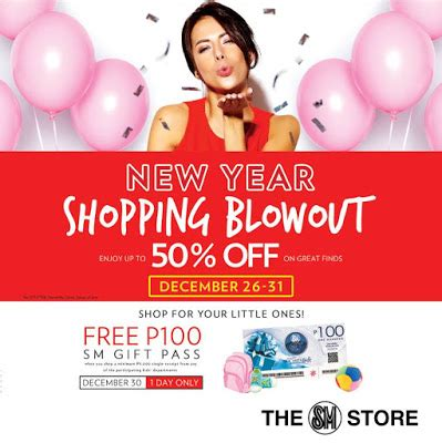 sm new year sale manila shopper sm stores new year shopping blowout sale
