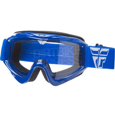 fly motocross goggles fly racing focus goggles blue dirtbikexpress