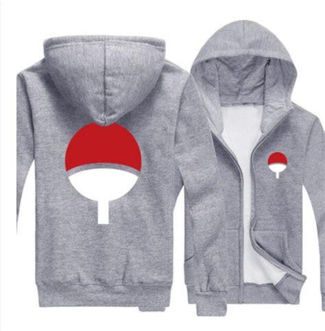 Jaket Uciha Zipper anime sasuke uchiha black jacket sweatshirt hoodie coat costume hoodie jacket