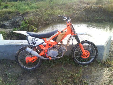 modifikasi motor bebek modifikasi motor supra x 125 menjadi trail modifikasi