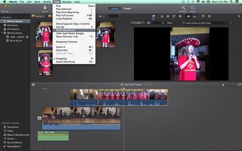 tutorial on imovie 10 0 6 waveforms show what you hear in imovie