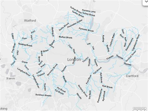 londons lost rivers map of london rivers the lost byway