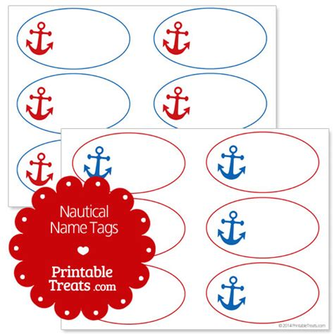 printable anchor gift tags nautical name tags printable treats com