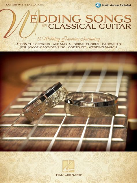Wedding Songs List Audio by Wedding Songs For Classical Guitar Guitar With Tablature