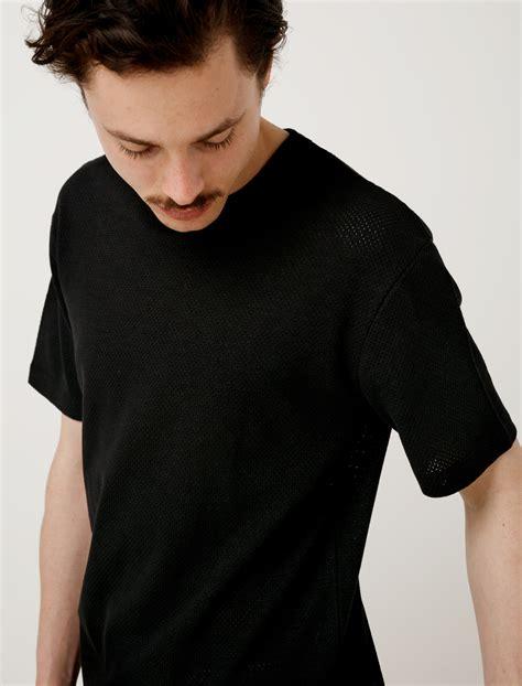 raschel knit sunspel raschel knit boxy t shirt black garmentory