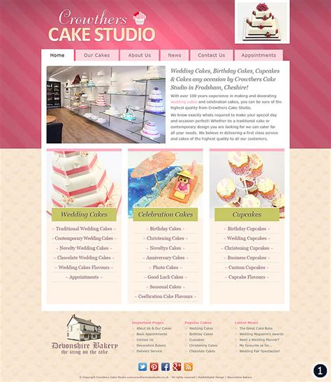 Cake Websites by Cake Shop Website Design In Cheshire By Rabbitdigital