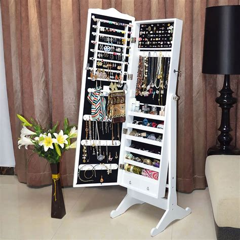 mirror and jewelry cabinet jewellery jewelry storage box cabinet organiser armoire