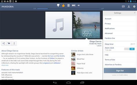 pandora radio android apps  google play