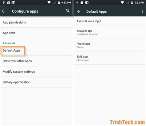 android default apps how to set default apps in android marshmallow and nougat