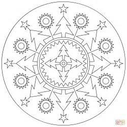 Christmas Present Crafts - christmas mandala coloring page free printable coloring pages