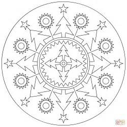Christmas mandala coloring page free printable coloring pages
