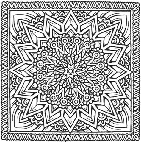 square mandala coloring pages the best mandala coloring books for adults mandalas