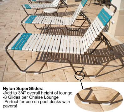 nylon super glides  patio chaise lounges ak enterprise