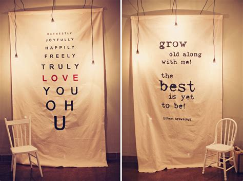 Wedding Reception Banner Sayings by Incorporating Quotes